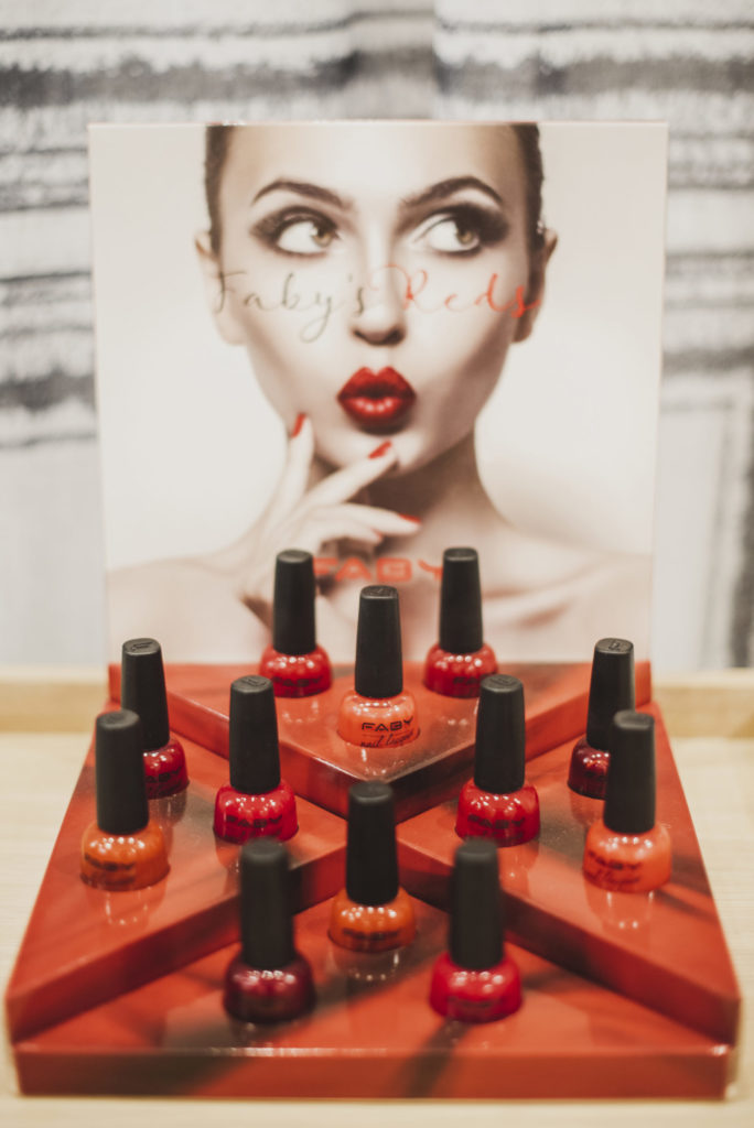 Faby's Reds on display at The Marly Spa in Camps Bay, Cape Town