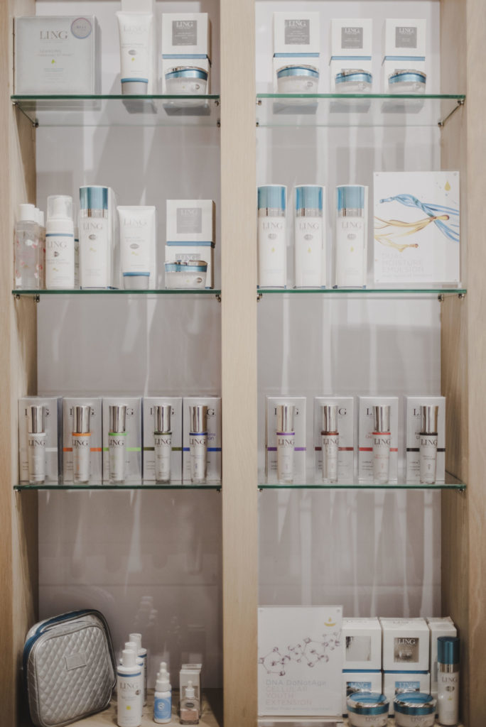 Product display at The Marly Spa in Camps Bay, Cape Town